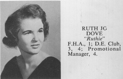 Ruth Jo 'Ruthie' DOVE - 1960 Class Photo
